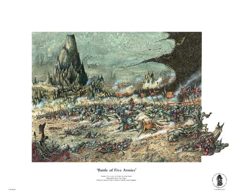 Battle of Five Armies by John Blanche