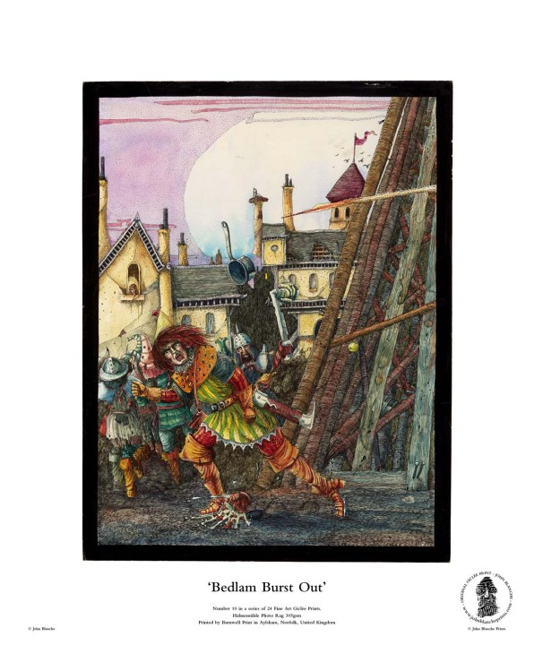 Bedlam Burst Out   No. 10 of 24 Giclée Fine Art John Blanche Prints