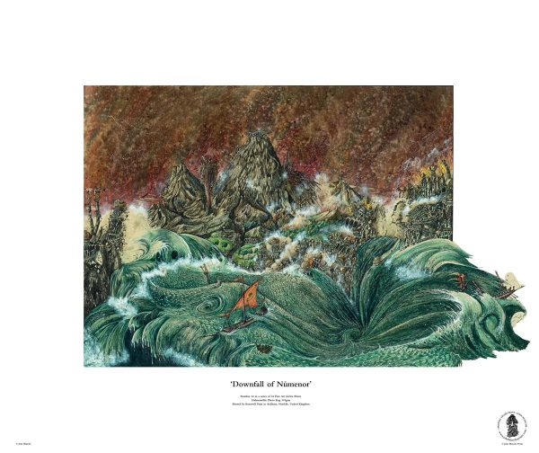 Downfall of Númenor | No. 24 of 24 Giclée Fine Art John Blanche Prints