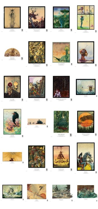 All 24 Giclée Fine Art Illustrations from John Blanche Prints