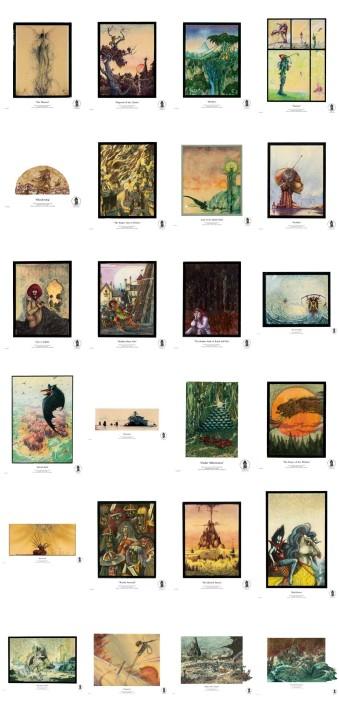 All 24 Giclée Fine Art Illustrations from John Blanche Prints
