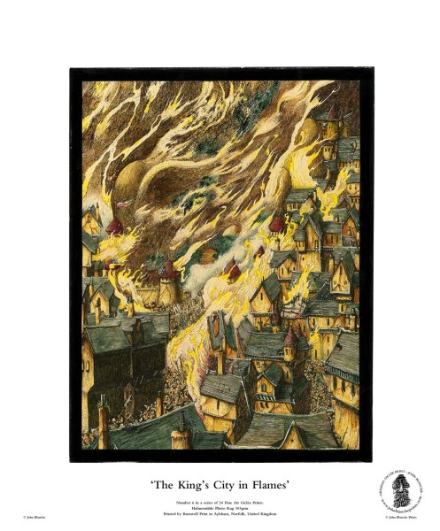 The King's City in Flames | No. 6 of 24 Giclée Fine Art John Blanche Prints